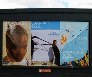 Hoardings for Showcase 2020 exhibition