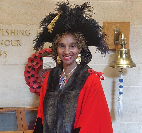 Carole Johnson in civic regalia, 2020