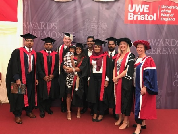 Villa College MBA students celebrate their graduation in Bristol