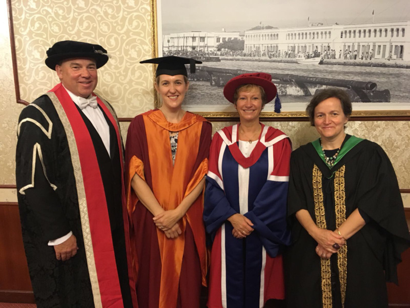 First cohort of Bristol Business School students graduate from Villa College