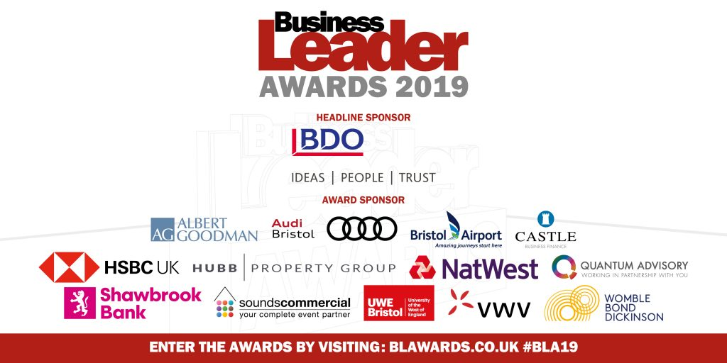 Business leader awards sponsors 2019