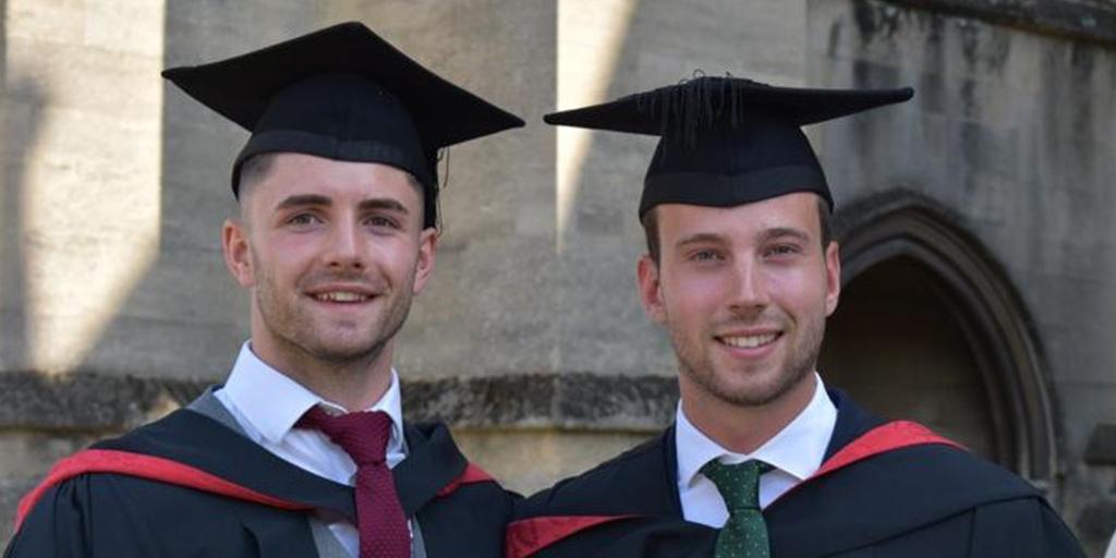 Benjamin Draper and William Testeil graduation headshot