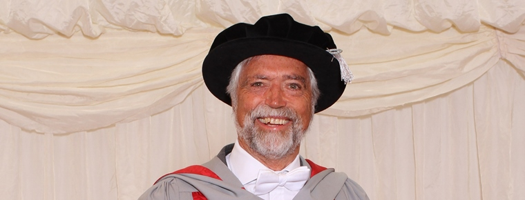 UWE Bristol awards an honorary degree to Christopher Curling