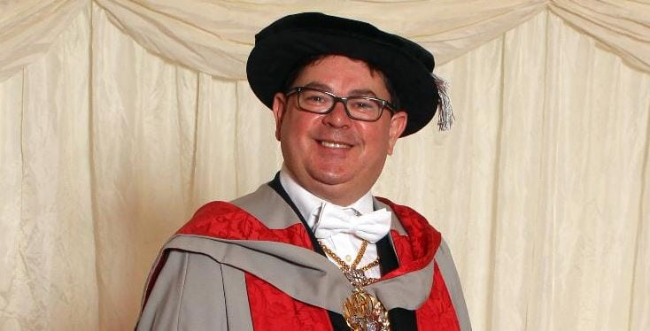 Honorary degree awarded to Alderman Timothy Hailes, JP