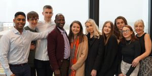 Morris Kaberia with UWE Bristol Law students