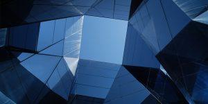 Textured blue skylight