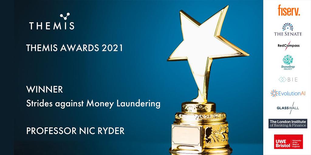 Professor Nicholas Ryder wins Anti Financial Crime Award