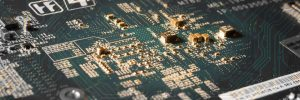Close up photo of a circuit board
