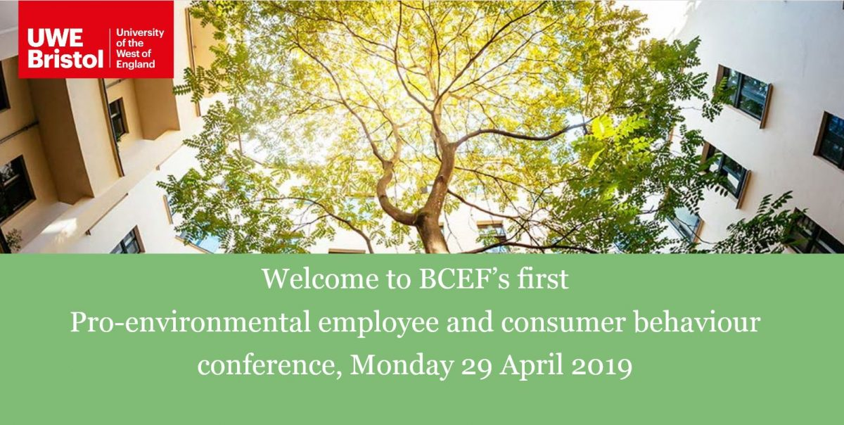 Pro-environmental employee and consumer behaviour conference 2019
