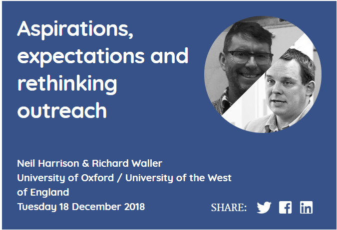 Aspirations, expectations and rethinking outreach