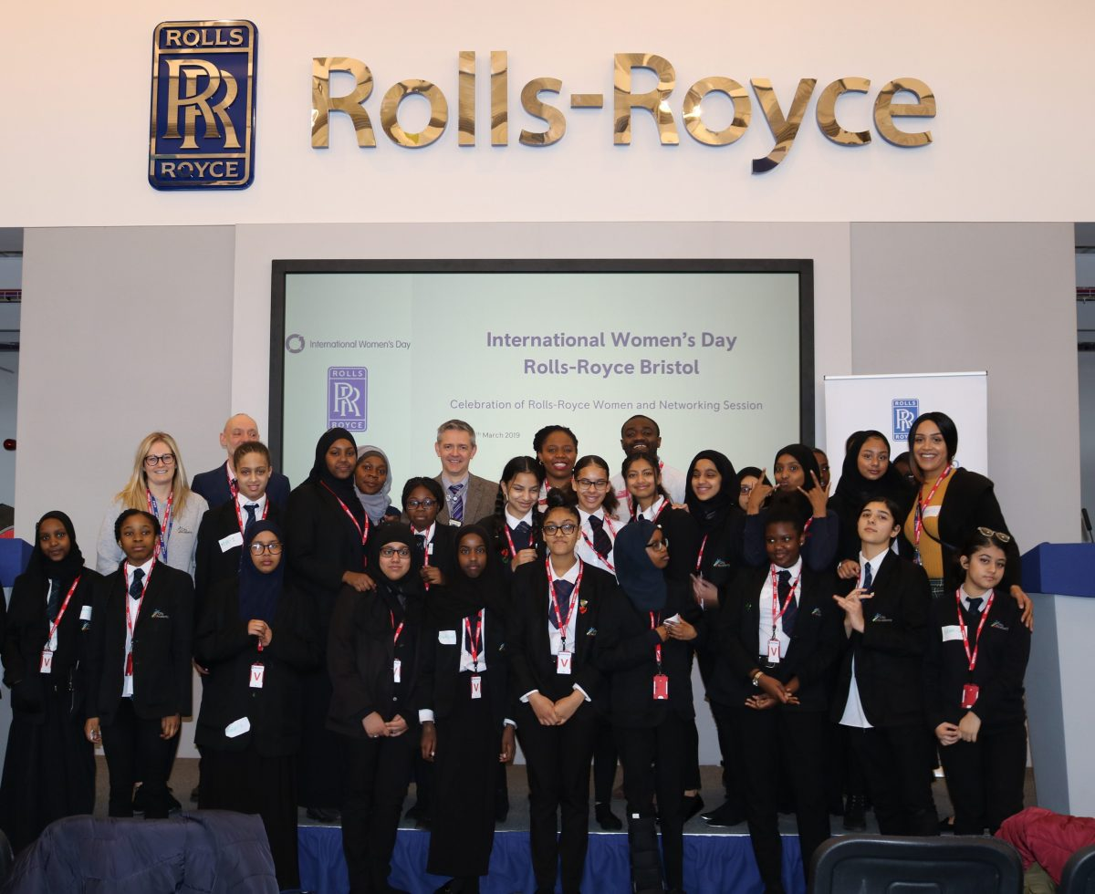 BAME Girls in Engineering  celebrates International Women's Day with Rolls Royce