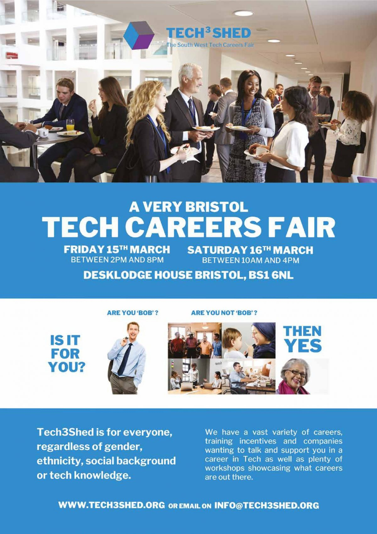 Don't forget to sign up to the Tech3Shed careers event!