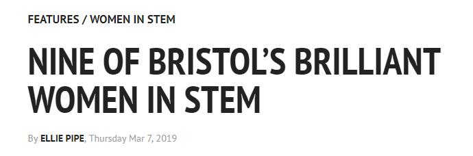 Three UWE EDM women featured as Bristol's brilliant women in STEM