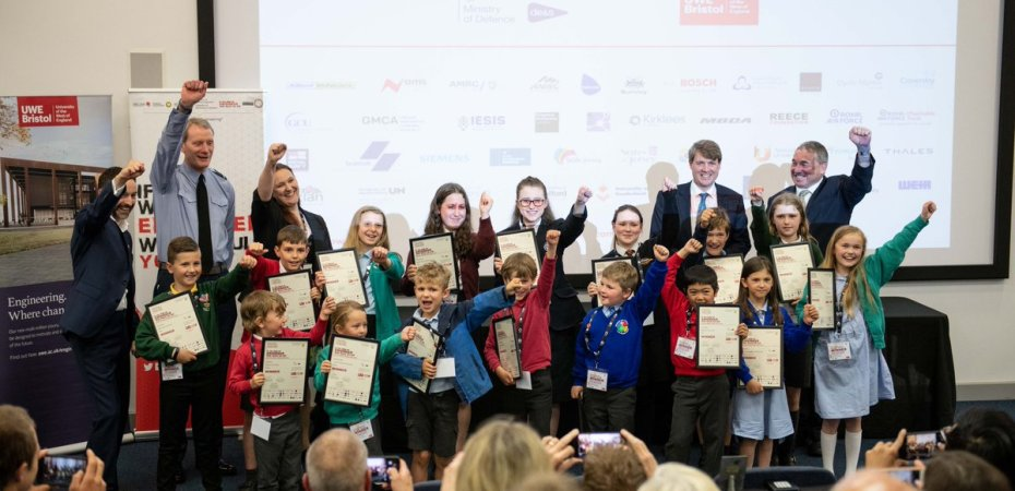 Children inspired engineers at the South West Leaders Award exhibition held at UWE Bristol
