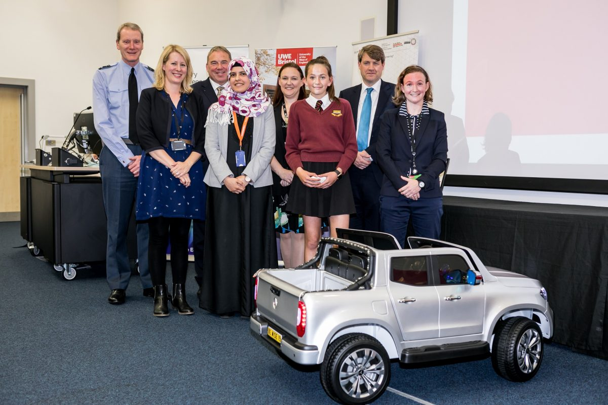 Winning Leaders Award prototype unveiled at exhibition at UWE Bristol