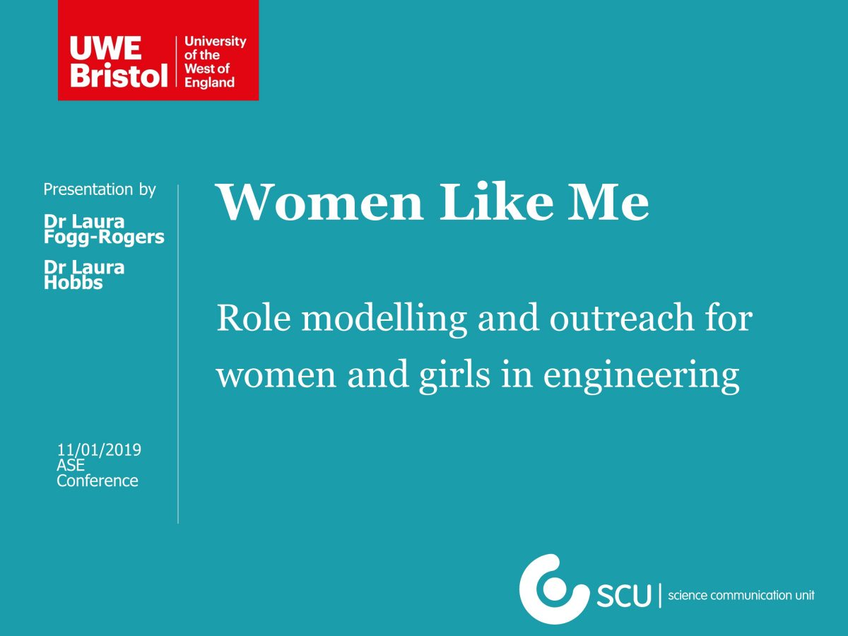 Women Like Me presented at the 2019 Association for Science Education conference