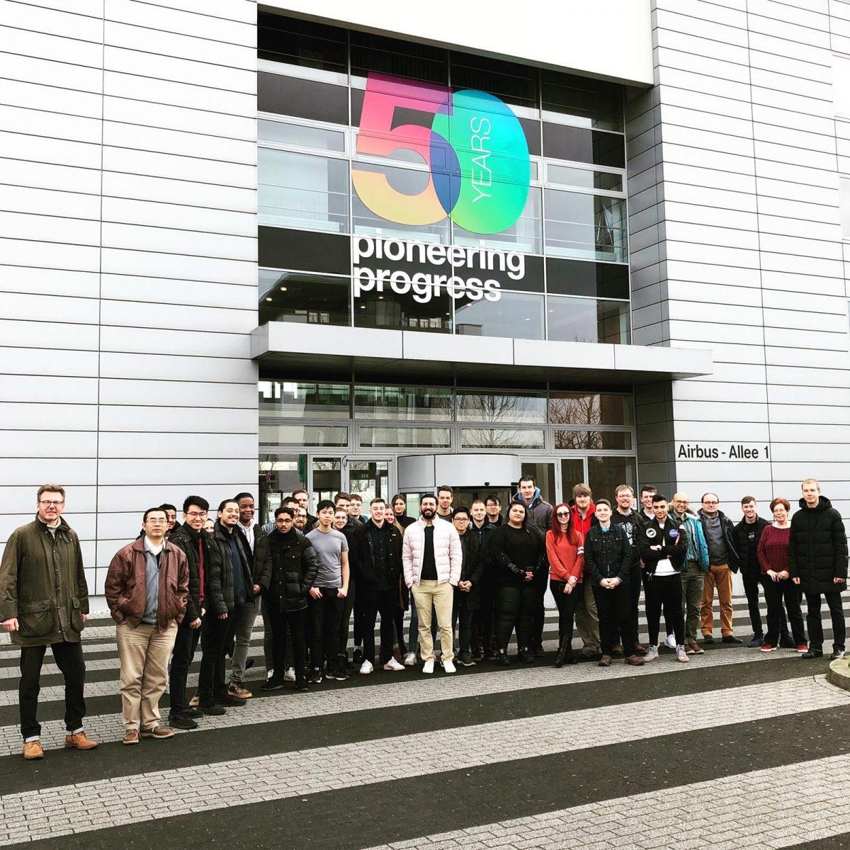 Aerospace students visit Airbus Factory in Bremen
