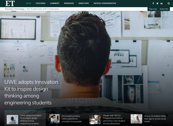 UWE partner with Newicon to innovate Engineering teaching
