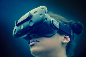 Young-woman-uses-VR-headset-copyright-Institution-of-Engineering-and-Technology-Callum-Wood-Ford.
