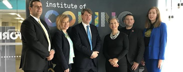 Universities Minister Chris Skidmore attends the official launch of the Foundry Technology Affinity Space at UWE Bristol