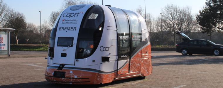 UWE Researchers test driverless pods at The Mall Cribbs Causeway