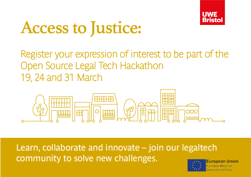 Access to Justice: Open Source LegalTech Hackathon 19, 24 and 31 March