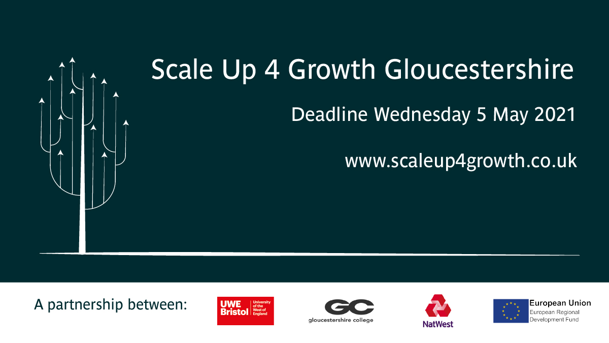 Scale Up 4 Growth launches funding programme in Gloucestershire with £1m of grants available to help the region's SMEs scale and grow