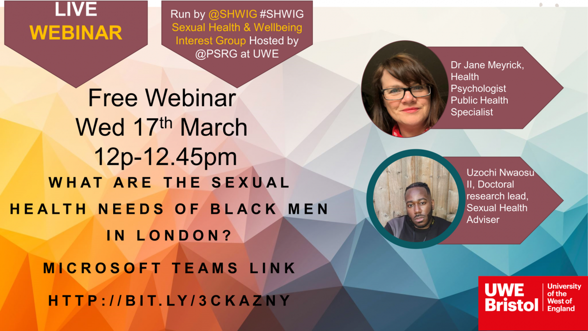 UWE Bristol researching ways to support black men and sexual health