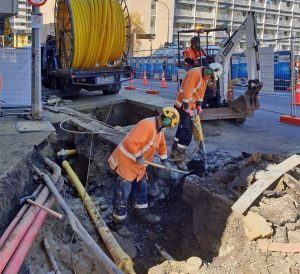 Picture of men working on the road