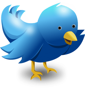 Cartoon Twitter bird