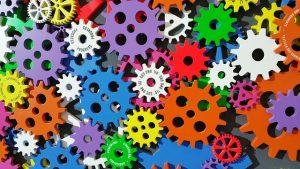 multicolour cogs