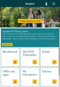 UWE Bristol app