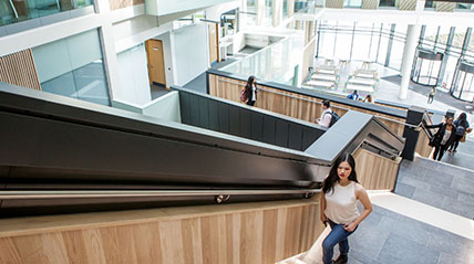 Business School stairs